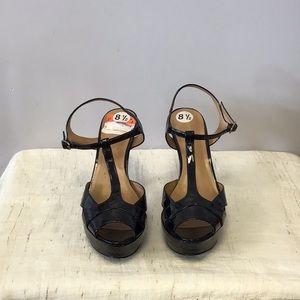Nine West Black Platform Stiletto Heel Shoes